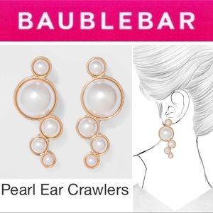 🆕 Pearl Ear Crawlers GOLD Bauble Bar